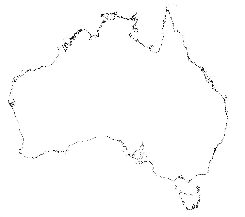 白地図オーストラリア オーストラリア白地図(オーストラリア、ニュージーランド オセアニア